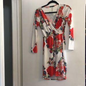 Boohoo Floral Wrap Dress
